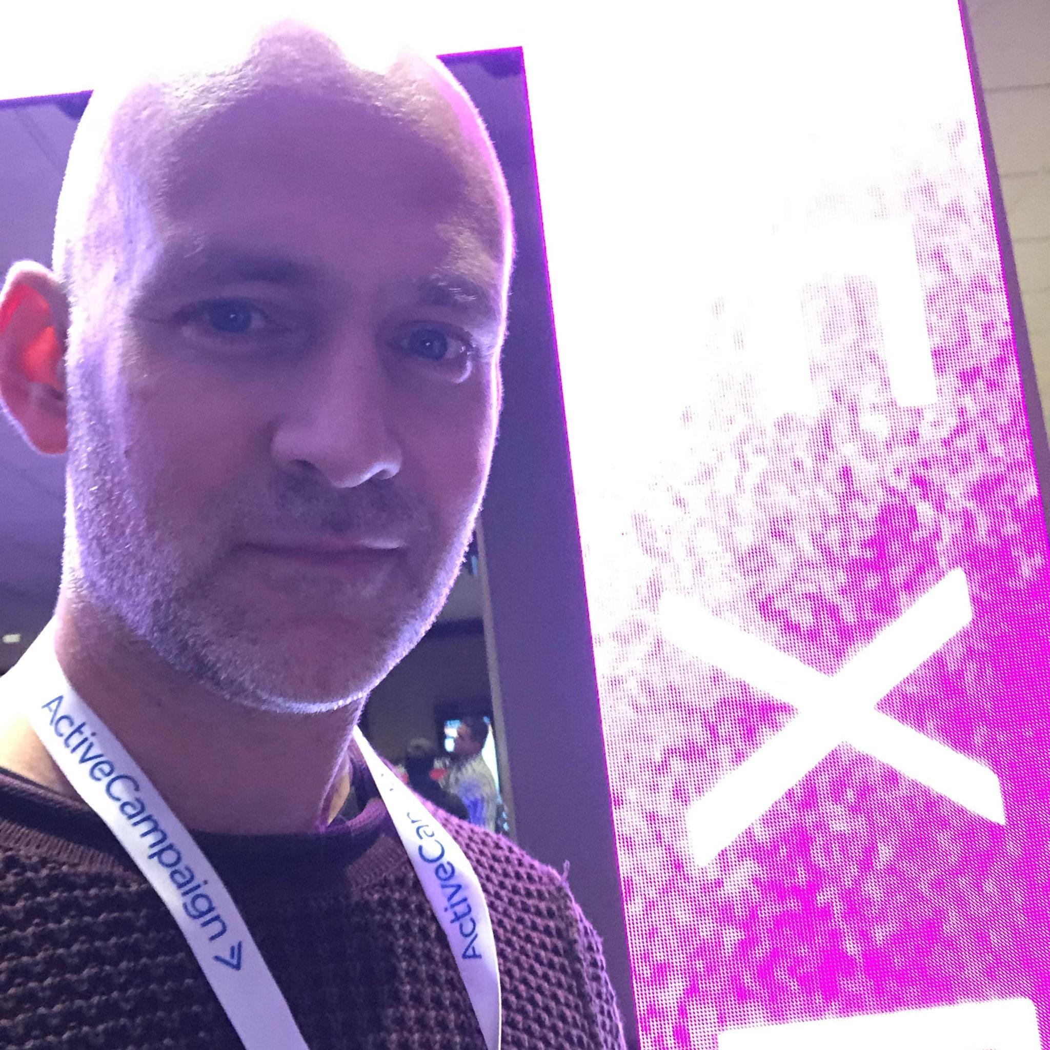 Patric Melander på digitalt marknadsföringsevent